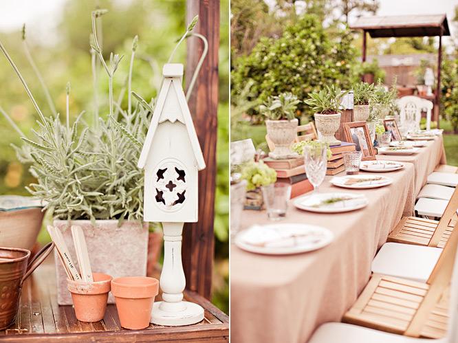 Backyard Wedding Shower Decorating Ideas : FEATURED  INSIDE WEDDINGS, VINTAGE GARDEN INSPIRED BRIDAL SHOWER
